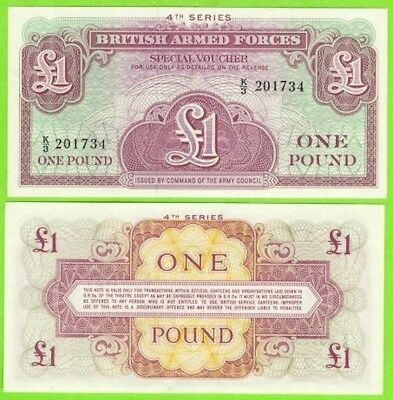Great Britain 1962 one Pound M36 Military Notes - UNC Last issue - #NN16 11
