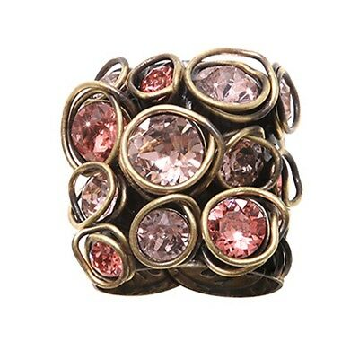 Konplott Ring Sparkle Twist pink orange