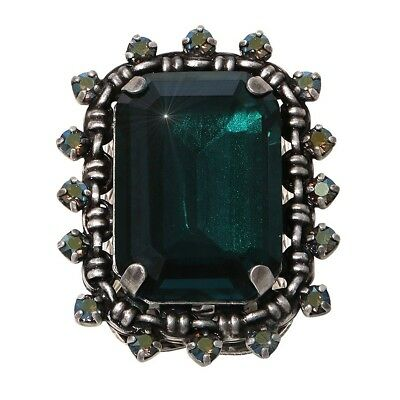 Konplott Ring Aztec green / grey antique silber