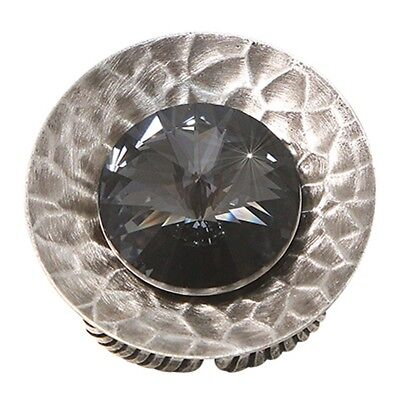 Konplott Ring Rivoli Concave black antique silber extra large