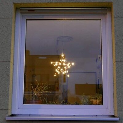 t rkranz weihnachten drahtkranz 40 cm kupfer 40 led fenster stern beleuchtet eur 3 00. Black Bedroom Furniture Sets. Home Design Ideas