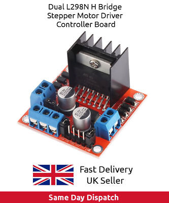 Dual L298N H Bridge Stepper Motor Driver Controller Board Arduino, Pi, ESP - UK