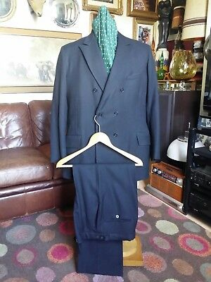 Vintage 50's Burtons Lindy hop Swing Double Breasted Tuxedo Cocktail Suit.Large