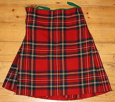 Genuine Large Black Watch/scots Guard Army Issue Royal Stewart Pipers Kilt - 36""