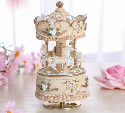 Yellow  Merry-Go-Round ''Castle in the Sky''Music Box Birthday Gift