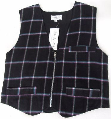 49 X Men's New Tartan Check Waistcoats Zip Fasten Wholesale Clothing Joblot