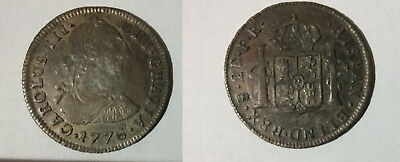 1776 Bolivia Large Silver 2 reales