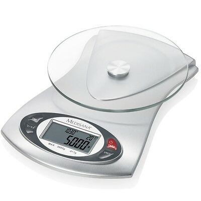 S#Medisana Electronic Digital LCD Kitchen Scales Weighing Glass 5 kg KS 220 4046
