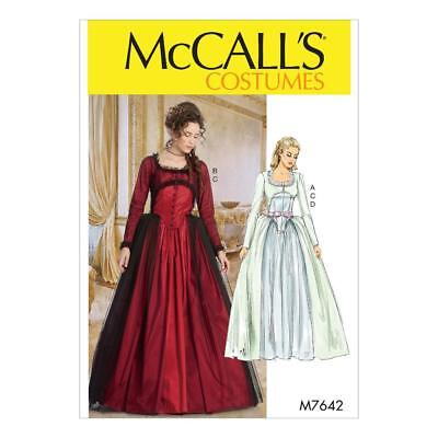 McCALL'S COSTUMES SEWING PATTERN MISSES' COSTUME DRESSES SIZE 6 - 22 M7642