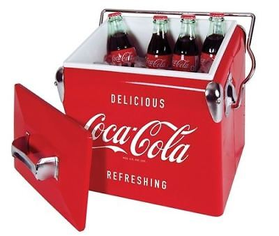 New Koolatron Coca-Cola 13L Vintage Metal Ice Chest Red CCVIC-13