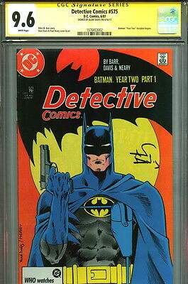 1987 CGC SS 9.6 Batman Detective Comics #575 SIGNED Alan Davis Art 1st Year Two