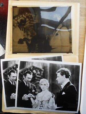 Bela Lugosi - White Zombie 1932 movie negative & 2 x photos of it