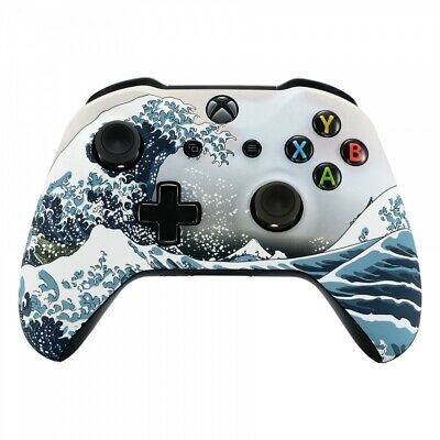 The Great Wave Soft Touch Repair Mod Faceplate Shell for Xbox One X S Controller