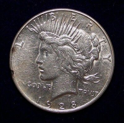Semi-Key Date 1928-S Peace Silver Dollar Rare Old U.s. Type Coin Problem Free