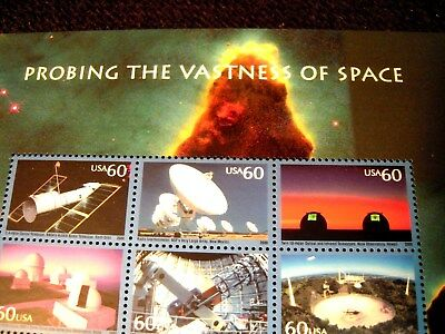 #3409, Probing Space, 2000, Space, Mint Souvenir Sheet Of 6-60 Ct Stamps, Cv $25