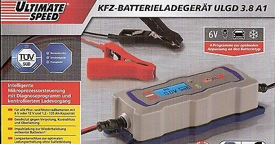 ULTIMATE SPEED KFZ Batterieladegerät ULGD 3.8 A1 6 V oder 12 V LC Display NEU