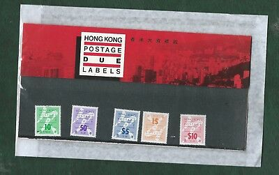 Hong Kong 1987 5 Postage Due labels in pack unmounted mint MNH