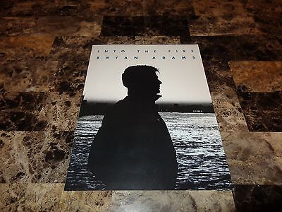 Bryan Adams Real Promo Press Kit Folder Into The Fire 1987 Heat Of The Night WOW