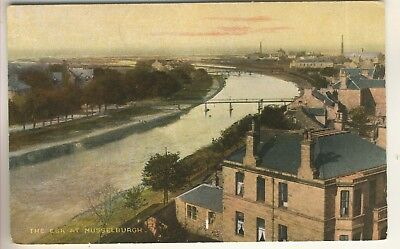 """An Early """"National""""  Series Post Card of The Esk At Musselburgh. Midlothian."""