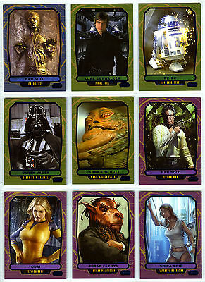 Topps Star Wars Galactic Files 2 - 9 Blue Parallel Cards Characters Vader Han