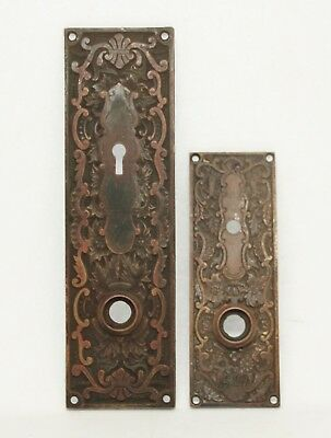 Antique Bronze Entry Back Plate Set