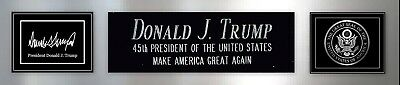 President Donald Trump Signed Photo Nameplate Autograph Make America Great Again