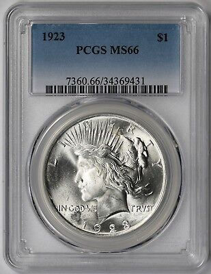 1923 Peace Dollar $1 MS 66 PCGS
