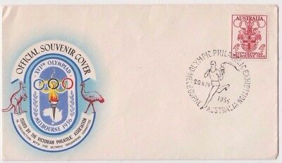 Stamp 1956 Olympic Games OLYMPHILEX philatelic exhibition commemorative cover