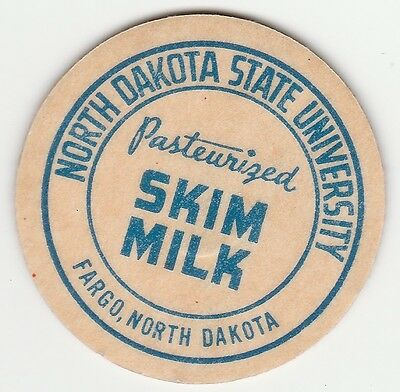 Milk Bottle Cap. North Dakota State University. Fargo, Nd. Dairy