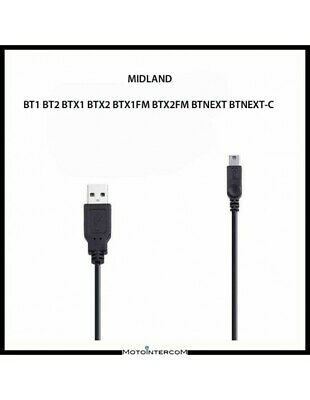 RXAU USB charging cable single intercom Midland - BT1 BT2 BTX1 BTX2 BTNext -