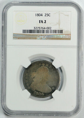 1804 Draped Bust Quarter NGC FR 2 Key Date Low Grade Filler Coin