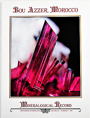 Bou Azzer Morocco Mineralogical Record Sept-Oct 2007 Vol 38 No 5 Famous Minerals