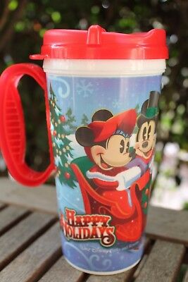 Disney Parks Christmas Holidays 2017 Mickey & Minnie Souvenir Drink Mug Cup NEW