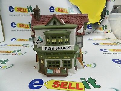 """Dept 56 Heritage Village Collection Dickens Village Series """"The Mermaid Fish """""""