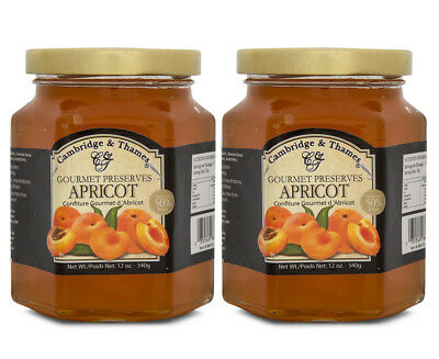 2 x Cambridge & Thames Apricot Jam 340g