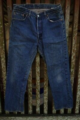 Vintage Denim Levis 501 Jeans 36 x 30 Made in USA Original Single Stitch inseams