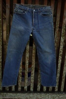 Vintage Denim Levis 501 Jeans 33 x 30 Made in USA Original Single Stitch inseams