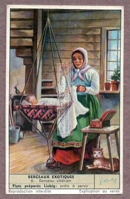 Baby Cradle Crib From Siberia Russia c50 Y/O Trade Ad Card