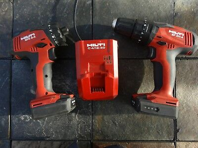 Hilti Sf 2H-A Sfd 2-A Cordless Hammer Drill & Impact Set Kit & Battery Charger