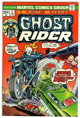 Ghost Rider #4 (1974) NM- Original Owner Marvel Comics Collection
