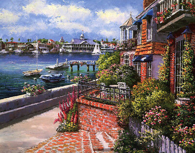 Italian Lake Como landscape oil painting HD printed on canvas L1614