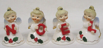 Vtg Lefton Christmas NOEL Angel Bells 1956