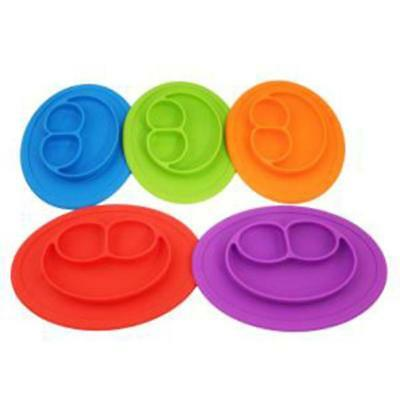Smile One-Piece Silicone Placemat Plate Dish Food Table Mat for Baby Kids Q