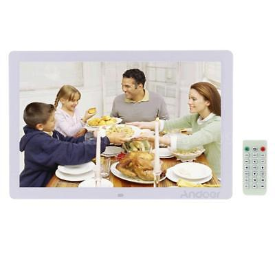 """17"""" 1080P LED Digital Photo Picture Frame Alarm Clock MP3/4 Christmas Gift F4X2"""