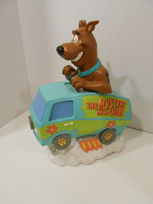 """Vintage  Scooby Doo """"The Mystery Machine AND Scooby""""  Plastic Coin Bank"""