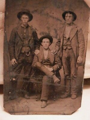 OLD ANTIQUE 19th Century vintage TINTYPE PHOTOGRAPH photography Picture original