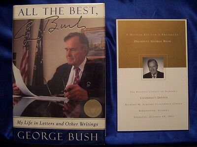 President George H W Bush signed All The Best 1st printing autograph WWII