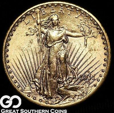 1911-D Double Eagle, $20 Gold St Gaudens ** Free Shipping!