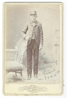 .c 1900 Texas Cab. Card- Conductor Tom Fleming of International & Great Northern