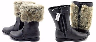 New Kids Toddle & Youth Girls Knee High Winter Fur Boot Shoes
